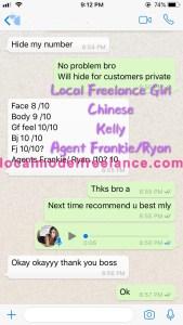 Local Freelance Escort - Kelly - Chinese - Pj