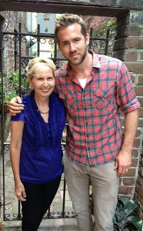 Mrs. Marica Thompson of Mrs. Wilkes Dining Room and Ryan Reynolds