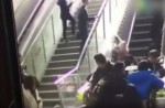 Crowded escalator in China shopping mall abruptly changes direction - 10