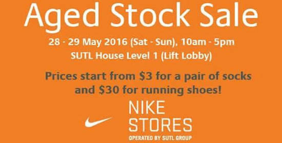 93048ae67df88e SUTL NIKE Clearance of Aged Stock Sale from 28 – 29 May 2016 ...