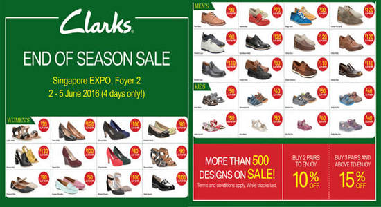 a80222645 Clarks End of Season Sale at Singapore Expo from 2 – 5 Jun 2016 ...