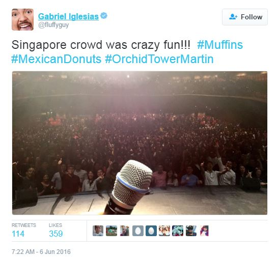 Gabriel Iglesias Impresses Singapore Fans With Indian And