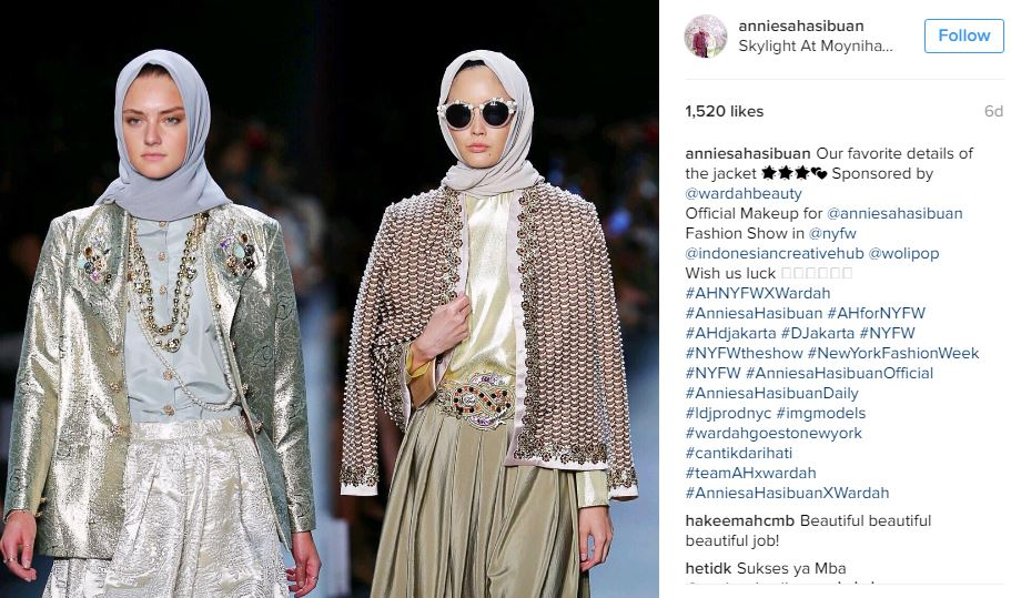Indonesian designer's hijab collection wows New York Fashion Week