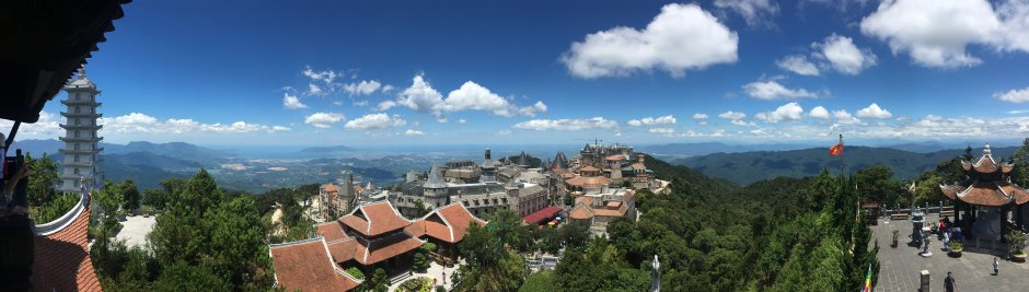 View of Ba Na Hills from Above at the Campanile