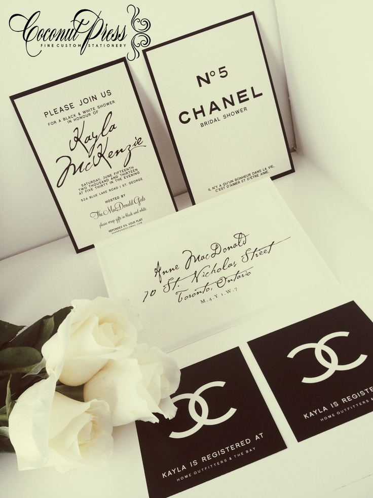 The Ultimate Chanel Themed Bridal Shower