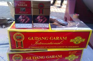 The seized Gudang Garam cigarettes worth Rs 2.2 crore