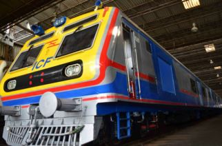 The first AC local for Mumbai is still undergoing trials