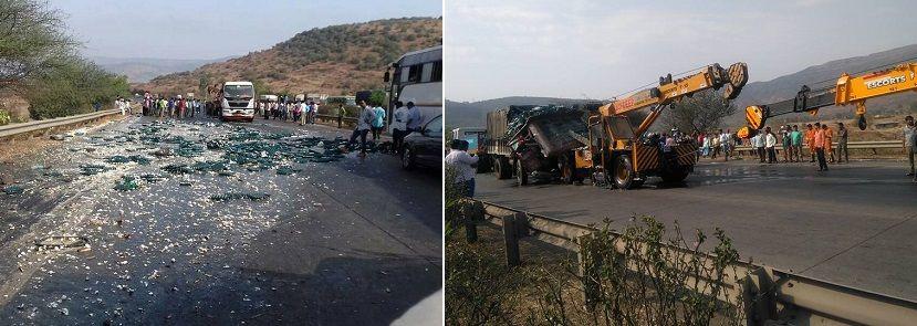 5 dead, 5 injured as car rams into burning bus in Kamshet tunnel on Mumbai-Pune expressway 1