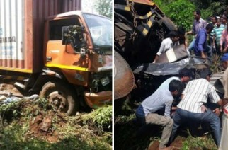 The incident took place on the Mumbai-Goa highway near Parle village in Poladpur tehsil of Raigad District (Picture Courtesy: Dainik Bhaskar)