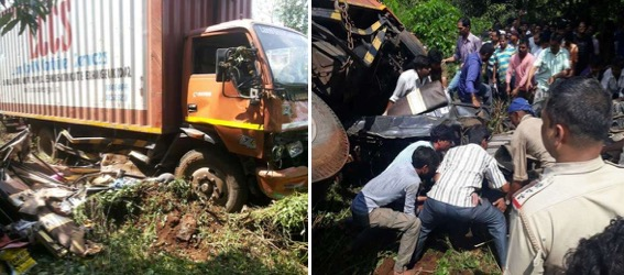 5 dead, 7 injured after truck rams into rickshaw near Poladpur on Mumbai-Goa Highway