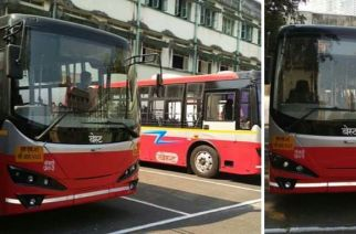 The electric buses have been procured at a cost of Rs 1.61 crore each (BEST's new electric buses at Wadala depot, Picture Courtesy: Pravin Shetra/Twitter)