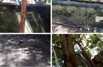 Aman Kamra was rushed to Seven Hills hospital where he was declared dead on arrival (The exposed wires around the society playground)
