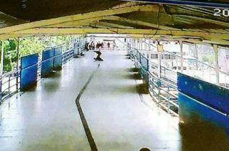 A shot from the CCTV camera at Virar station