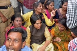 Activist Trupti Desai tried to get into the Haji Ali dargha