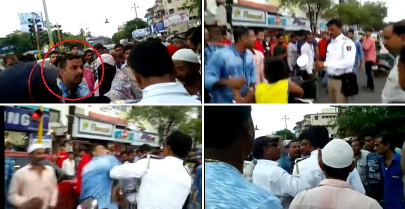 Biker slaps on-duty constable who stopped him for riding without helmet, jumping signal