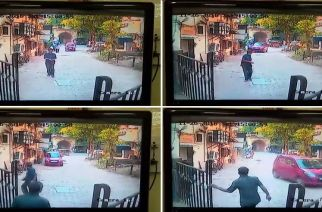 Screengrabs from the CCTV footage
