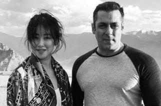 Chinese actor Zhu Zhu with Salman Khan
