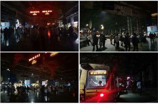 CST Station on Tuesday night. Picture Courtesy: Rajesh Kumar, Mohammad Tariq and Diwakar Sharma