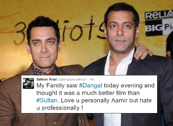 Dangal better than Sultan: Salman Khan