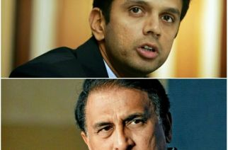 Rahul Dravid (top) and Sunil Gavaskar