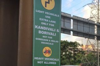 A signboard on WEH. Picture Courtesy: Milind Acharya