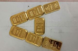 Gold bars recovered from the 83-year-old