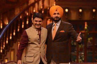 Kapil Sharma and Navjot Sidhu on the set of the show