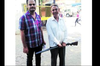 Pictured: (from left to right) Sajid with his father Fateh Mohammed Chowdhary Image Courtesy: The Indian Express