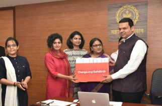 Change.org's 'Decision Maker' feature is being used by leaders across the world to demonstrate transparency and build trust by engaging directly with citizens (Devendra Fadnavis with Change.org team)