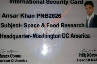 The fake ID card printed by Khan. Picture: NDTV