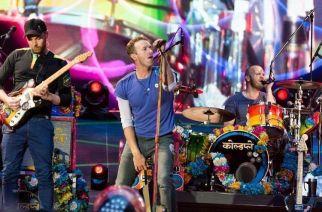 Coldplay performing at Wembley