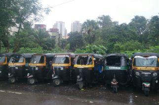 Damaged rickshaws