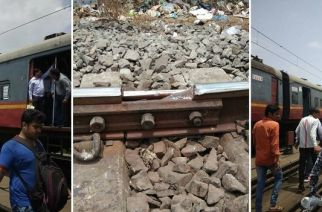 Harbour line services were disrupted due to rail fracture between Dockyard Road and Reay Road stations. Picture Courtesy: Sushant Sharma