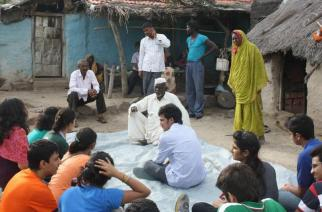 Pictured: Members of RCHR with Kumbharwadi villagers, Photo Courtesy: Rotary.org