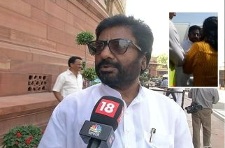 Shiv Sena MP Ravindra Gaikwad. Picture Courtesy: CNN/News18