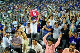 Fans at an IPL match
