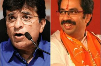 Kirit Somaiya (left) and Uddhav Thackeray