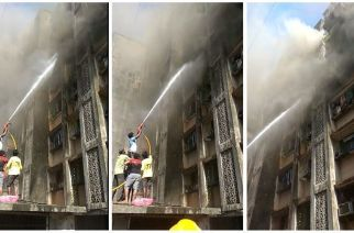 Fire at residential building in Dharavi