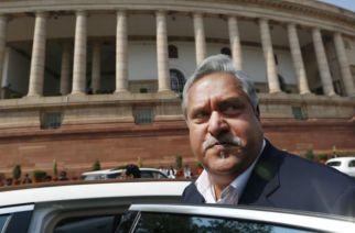 Vijay Mallya seen leaving Rajya Sabha