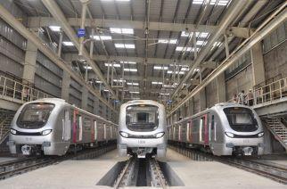 An existing Mumbai Metro depot