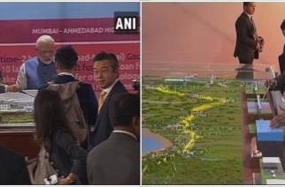 The bullet train will cover the 508 km distance in two hours and seven minutes if it stops at four stations (PM Narendra Modi and Shinzo Abe at the ceremony)