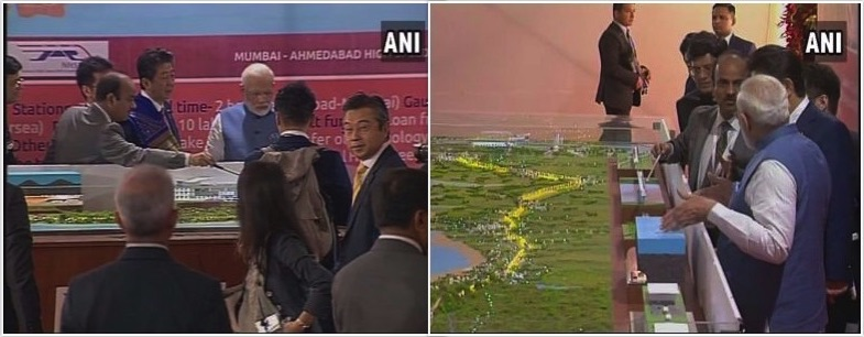 Modi, Abe lay foundation of Mumbai-Ahmedabad bullet train, expected to complete by 2022