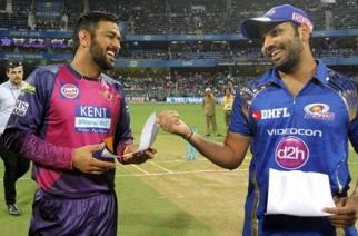 The captains of Rising Pune Supergiants and Mumbai Indians, M.S Dhoni and Rohit Sharma