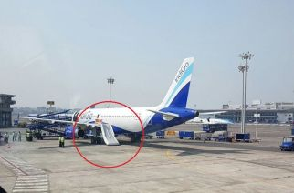 The IndiGo aircraft whose emergency shoot was opened by passengers at Mumbai Airport