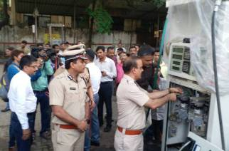 Both pumps were sealed and the pulsers attached to dispensing units were seized (Picture Courtesy: Subodh Mishra)
