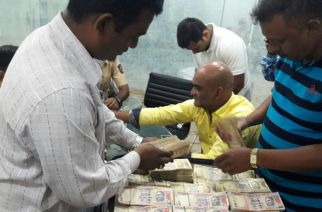 Demonetized notes worth Rs 1.7 crore were seized from the office of Ajay Gupta in Powai