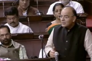 Finance Minister Arun Jaitley in Rajya Sabha