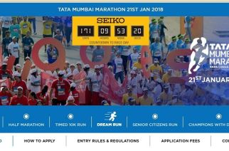 For the first time, the Mumbai Marathon will include a 10K (10 km) timed run exclusively for charity (Screengrab from the website)