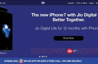 A screengrab from Reliance Jio's website