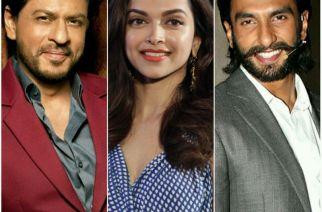 Shah Rukh Khan, Deepika Padukone and Ranveer Singh